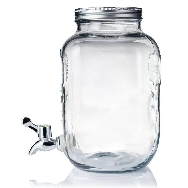 Słój / słoik z kranikiem do napojów lemoniady 4L