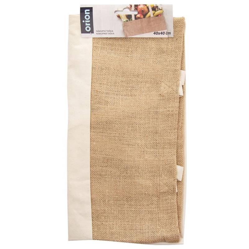 Torba, siatka, reklamówka, bawełniana, jutowa, na zakupy, NATURAL, 40x40 cm