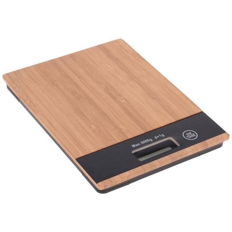 Waga kuchenna elektroniczna płaska bambusowa 5kg