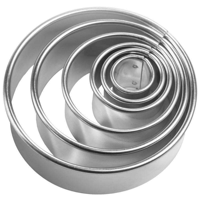 Wykrawacz foremka do ciastek formowania KOŁO 5 el.