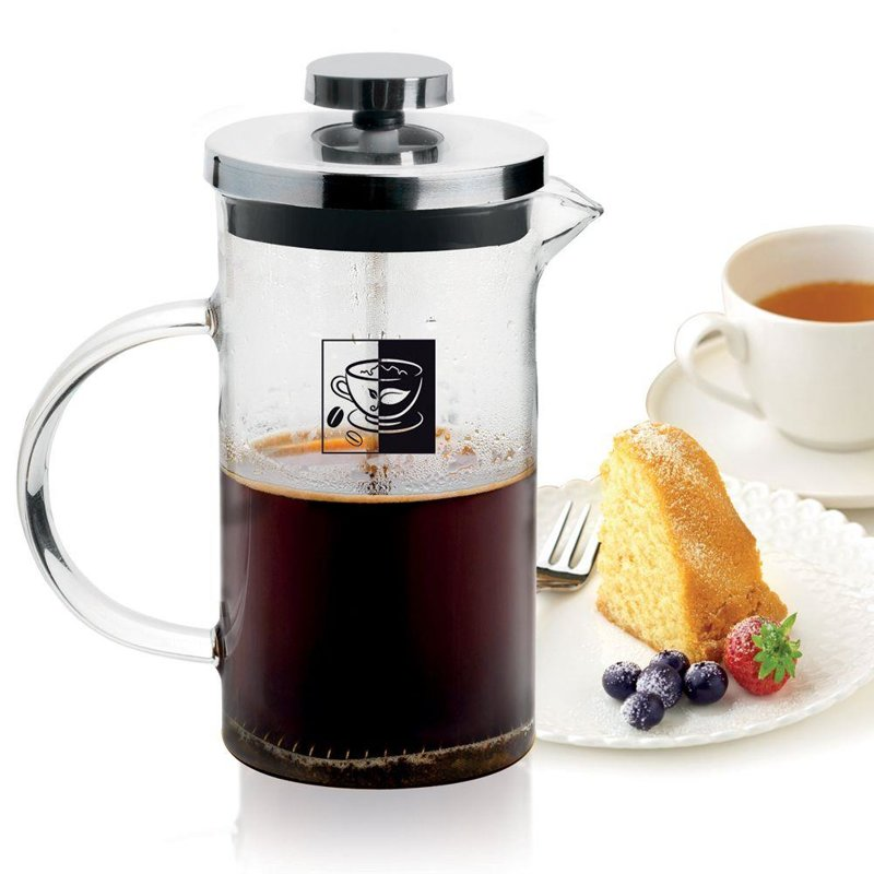 Zaparzacz imbryk DZBANEK szklany z tłokiem do kawy herbaty ziół 0,8L