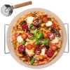 Kamień do pieczenia pizzy, forma na pizzę, stojak, nóż, ORION