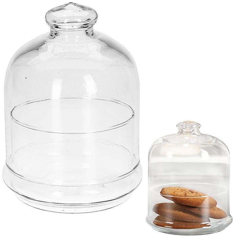 Borcan, recipient din sticlă cu capac, pentru prăjituri, biscuiți, produse de cofetărie