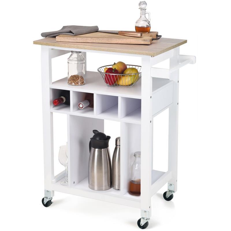 Cărucior de bucătărie, dulap, insulă, comodă pe roți, raft, suport pentru vinuri