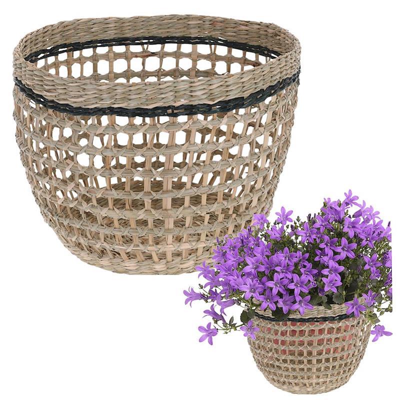 Coș, coș împletit din rattan pentru depozitare, pentru perne, pături, haine, jucării, 25x18 cm