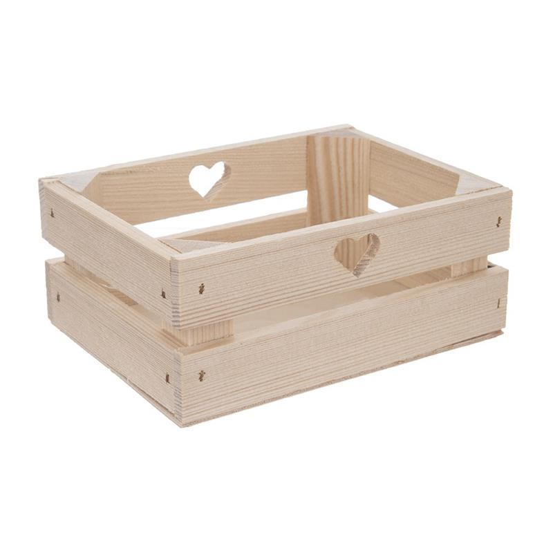 Cutie din lemn, ladă, container, 20x15x18,5 cm, pentru depozitare, coș pentru legume, fructe