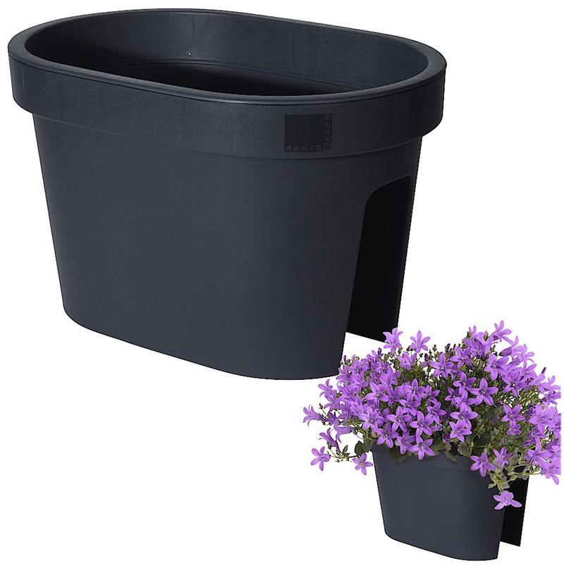Ghiveci de flori pentru balcon, terasă, balcon, terasă, 40 cm