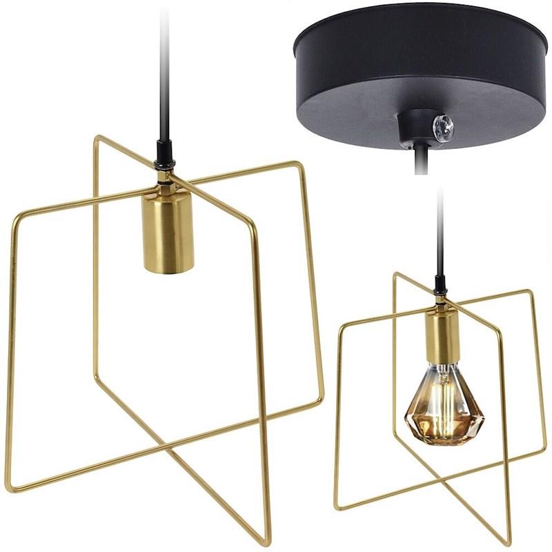 Lampă metalică, pandantiv, plafon, aur negru, cadru, corp de iluminat, carcasă, becuri