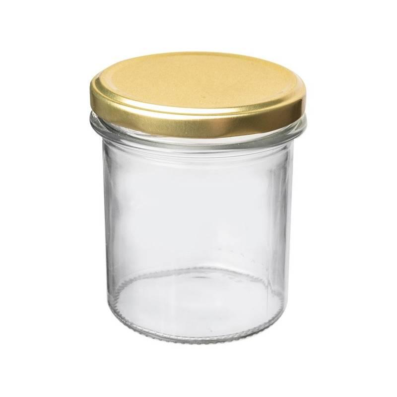 Borcan de sticlă cu capac cu șurub pentru conserve, gem, conserve, condimente, 0,36 l
