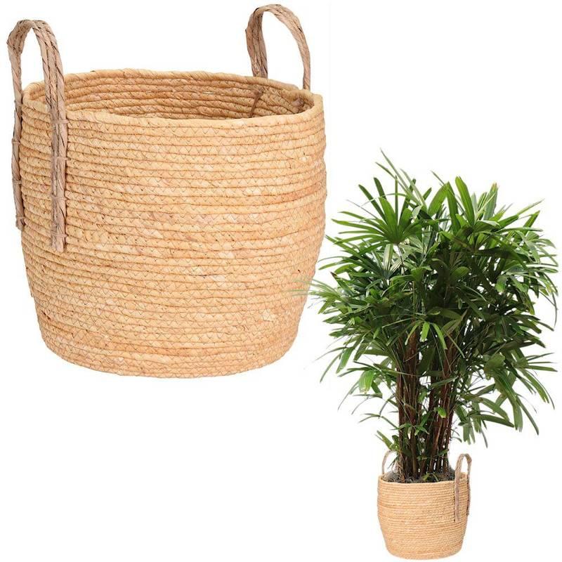 Carcasa, ghiveci, ghiveci de flori, ghiveci de flori, coș boho, coș împletit din iarbă de mare pentru ghiveci, plante, pentru depozitare, 32x28 cm