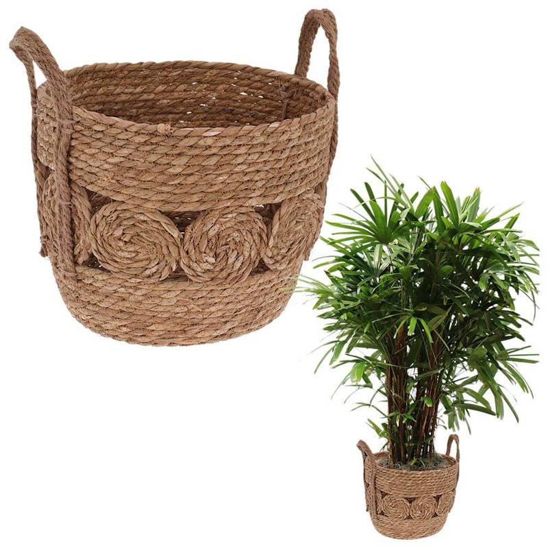 Carcasa, ghiveci, ghiveci de flori, ghiveci de flori, coș boho, coș țesut din iarbă de mare pentru ghiveci, plante, pentru depozitare, 24x20 cm