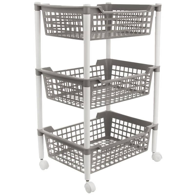 Cărucior, bibliotecă, organizator, dulap, coș cu 3 nivele, bucătărie, baie, pe roți, pentru bucătărie, baie, bucătărie