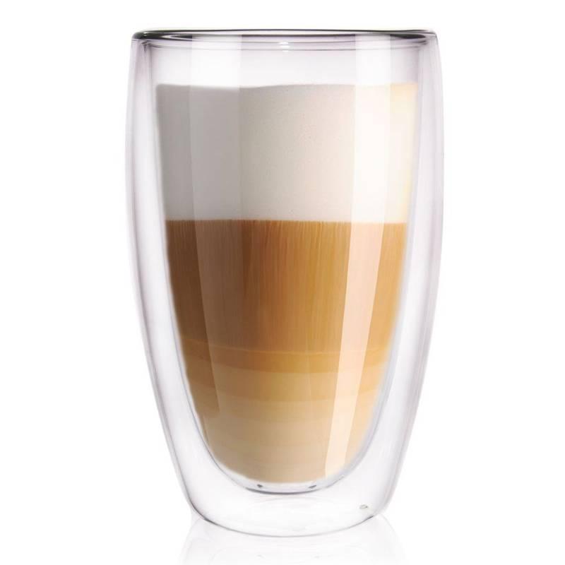 Pahar termic cu perete dublu pentru cafea, latte, ceai, 0,45 l