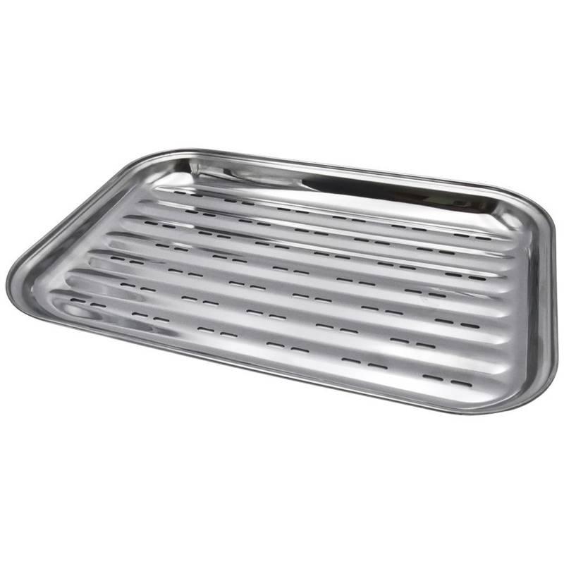 Placă de grătar, placă de grătar, grătar de grătar, tavă de grătar, perforată, din oțel